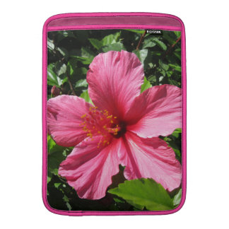 Dark Pink Hibiscus Vertical MacBook Sleeve