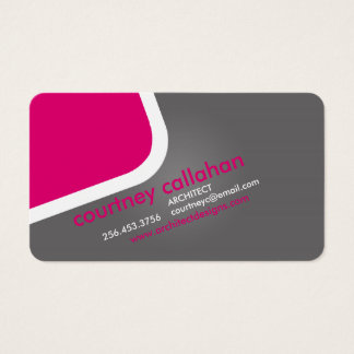 Dark pink hip modern standard business card