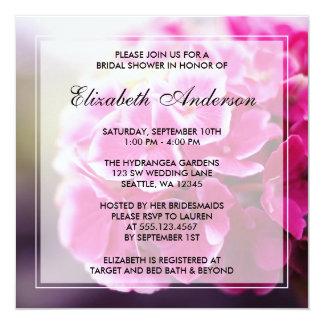 Dark Pink Hydrangea Bridal Shower Card