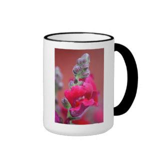 Dark Pink Magenta Red Snapdragon Flower Ringer Mug