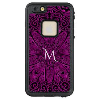 Dark Pink Mandala Monogram iPhone Case