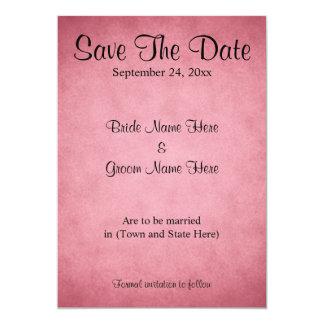 Dark Pink Mottled Pattern Wedding Save The Date Card