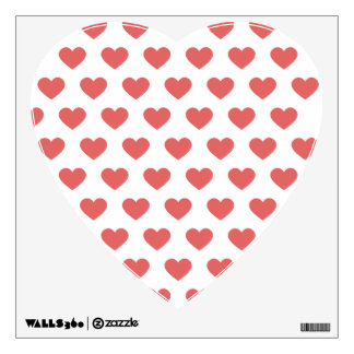 Dark Pink Polka Dot Hearts Wall Sticker