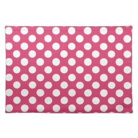 Dark Pink Polka Dots Place Mats