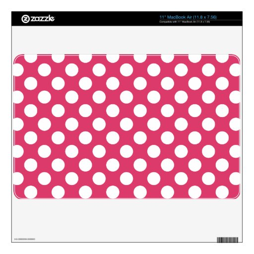 Dark Pink Polka Dots Skins For MacBook Air