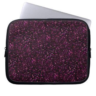 Dark Pink Posh Glitter Computer Sleeve