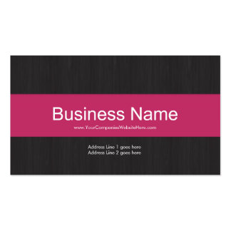 Dark & Pink Professional Business Card