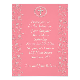 Dark Pink Religious Invitation