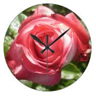 Dark Pink Rose Clock