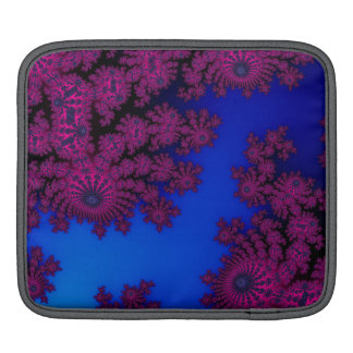 Dark Pink Rose on Royal Blue Sleeve For iPads