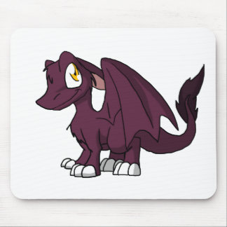 Dark Pink SD Furry Dragon Mouse Pad
