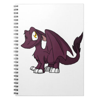 Dark Pink SD Furry Dragon Note Books
