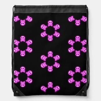 Dark Pink Skull and Cross Bones backpack