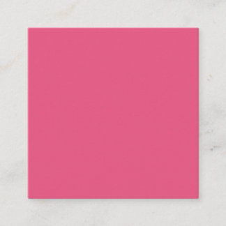 Dark Pink Square Business Card