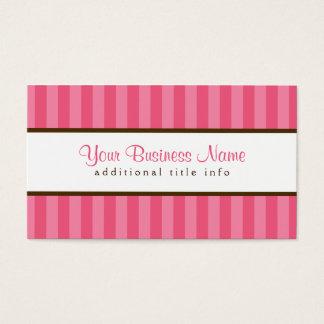 Dark Pink Stripes Business Card