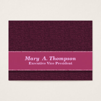 Dark Pink Texture Business Card
