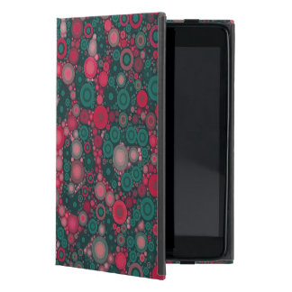 Dark Pink Turquoise Circle Cheetah Cover For iPad Mini
