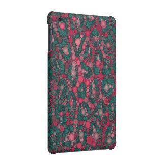 Dark Pink Turquoise Circle Cheetah iPad Mini Case