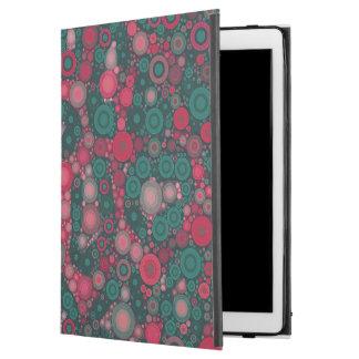 """Dark Pink Turquoise Circle Cheetah iPad Pro 12.9"""" Case"""