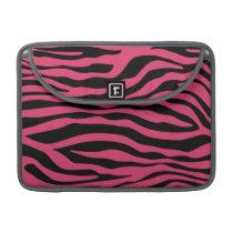 Dark Pink Zebra Stripes Animal Print Sleeve For MacBooks