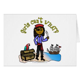 Dark Pirate Girl Card
