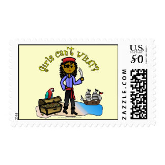 Dark Pirate Girl Postage