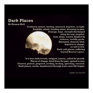 Dark Places - The Poem Poster