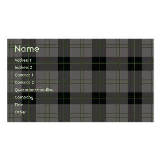Dark Plaid - Business Double-Sided Standard Business Cards (Pack Of 100)