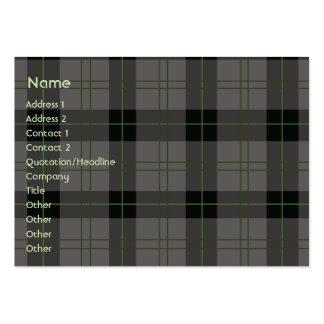 Dark Plaid - Chubby Large Business Card
