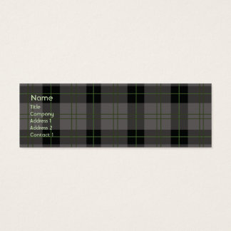 Dark Plaid - Skinny Mini Business Card