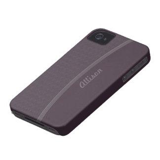 Dark plum professional design iPhone 4 Case-Mate case