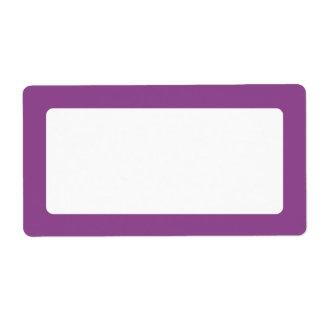 Dark plum purple border blank personalized shipping labels