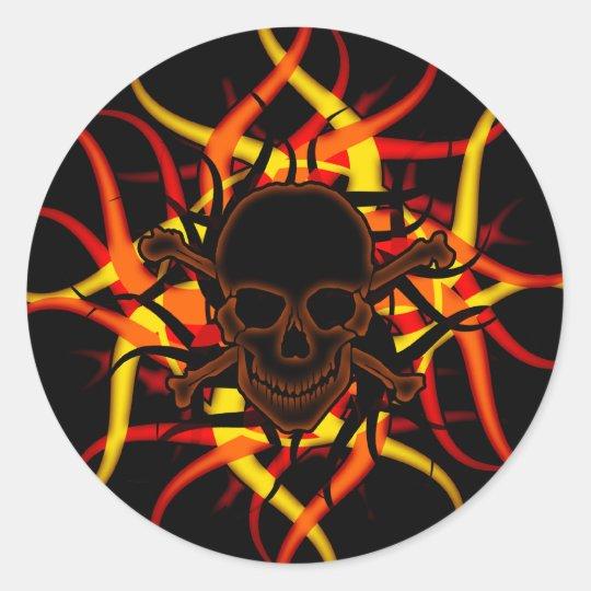 Dark Poison Skull & Crossbones Sticker