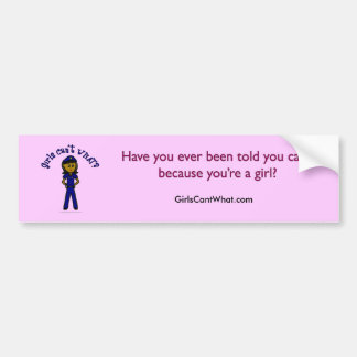 Dark Police Girl Bumper Sticker
