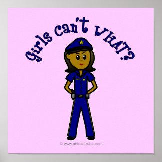 Dark Police Girl Print
