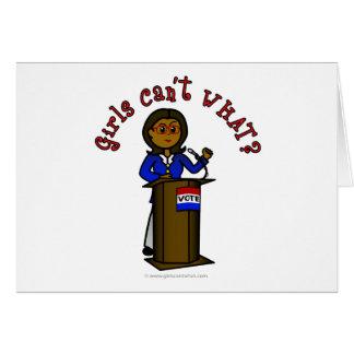 Dark Politician Girl Card