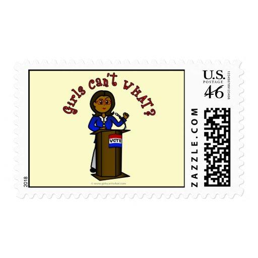 Dark Politician Girl Stamps