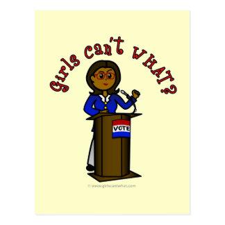 Dark Politician Girl Postcard