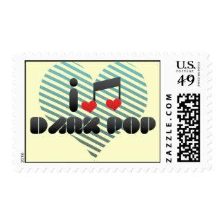Dark Pop fan Postage Stamps
