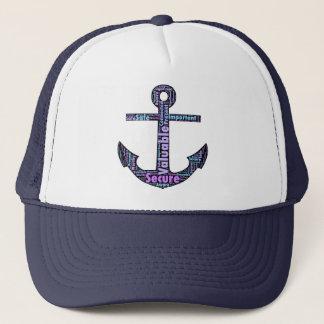 Dark Positive Word Anchor Trucker Hat