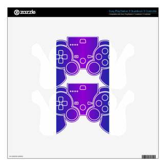 Dark Powder Blue and Dark Violet Gradient PS3 Controller Skins
