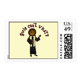 Dark Preacher Girl Postage Stamps
