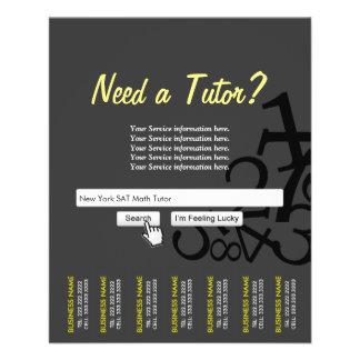 Dark Professional Search Bar Math Tutor Flyers