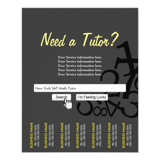 dark professional search bar math tutor flyers