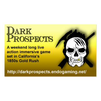 Dark Prospects Cards Business Card Templates