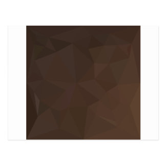 Dark Puce Brown Abstract Low Polygon Background Postcard