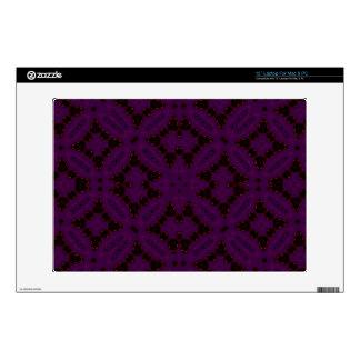 Dark Purple Abstract Pattern Laptop Decal