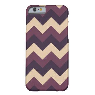 Dark Purple and Cream Chevron iPhone Case