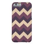 Dark Purple and Cream Chevron iPhone Case Barely There iPhone 6 Case