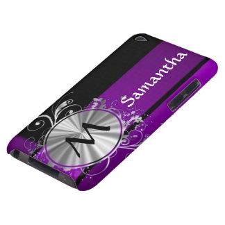Dark purple and monogram iPod Case-Mate case